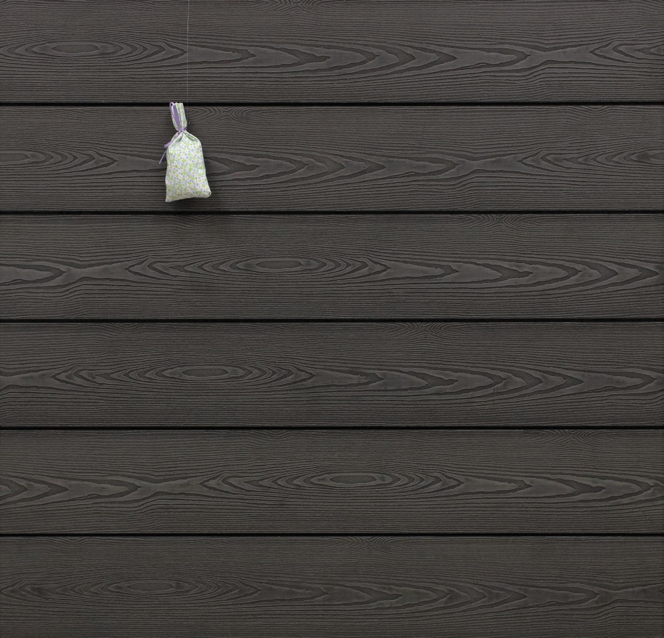 WPC Terrasse massiv, dunkelgrau, Oberfläche mit 3D Struktur in Holzoptik, 22 x 143 bis 4800 mm, Vollprofil, 7,95 €/lfm