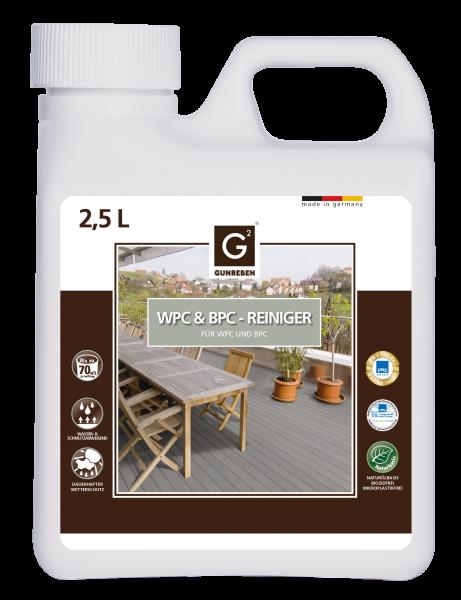 Gunreben WPC Reiniger, 2,5 Liter, ausreichend für ca. 20-40 m²