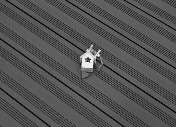 WPC Terrasse massiv, dunkelgrau, Oberfläche mit französischem Profil, 22 x 143 bis 4800 mm, Vollprofil, 7,95 €/lfm