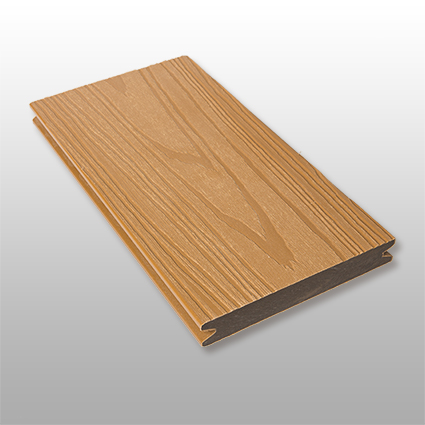 WPC Terrasse Deserto massiv, hellbraun, Oberfläche mit Struktur in Holzoptik, ummantelt, Premium, 22 x 143 bis 4800 mm, Vollprofil, 10,40 €/lfm