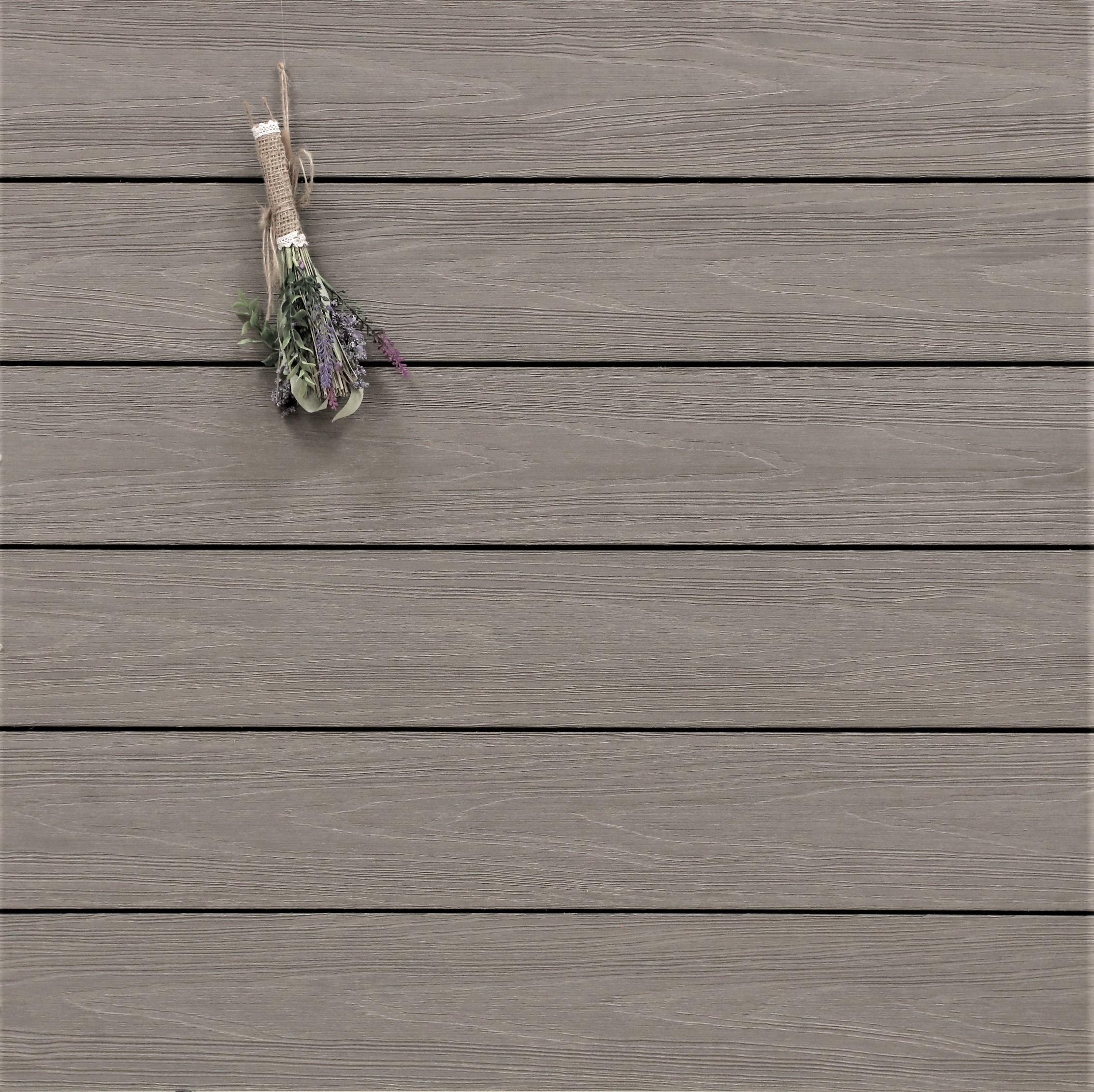 WPC Terrasse Tessera, ummantelt, massiv, grau, Oberfläche mit Struktur in Holzoptik, Premium, 22 x 143 bis 4800 mm, Vollprofil für 10,40 €/lfm