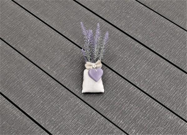 WPC Terrasse massiv, hellgrau, sägerau grob, 22 x 143 bis 4800 mm, Vollprofil, 7,95 €/lfm
