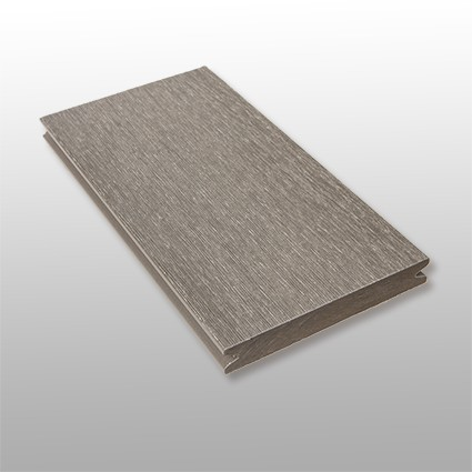 WPC Terrasse Tessera massiv, grau, Oberfläche gebürstet, ummantelt, Premium, 22 x 143 bis 4800 mm, Vollprofil, 10,40 €/lfm