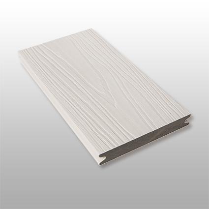 WPC Terrassen Artide massiv, hellgrau, Oberfläche mit Struktur in Holzoptik, ummantelt, Premium, 22 x 143 bis 4800 mm, Vollprofil, 10,40 €/lfm