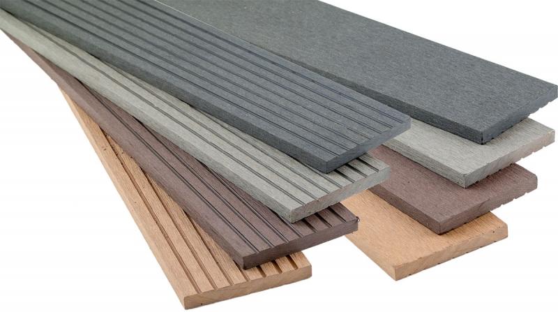 WPC Flachleiste, 10 x 80 x 2900 mm, farblich passend zur Decklage