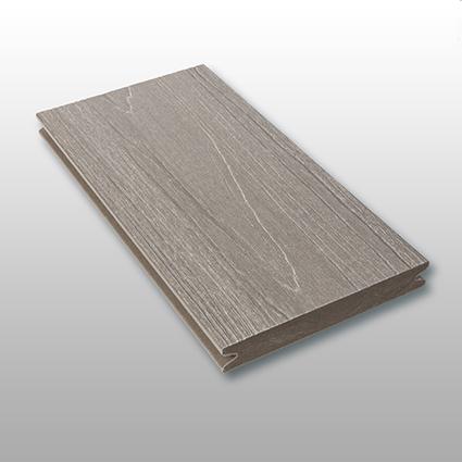 WPC Terrasse Tessera massiv, grau, Oberfläche mit Struktur in Holzoptik, ummantelt, Premium, 22 x 143 bis 4800 mm, Vollprofil, 10,40 €/lfm