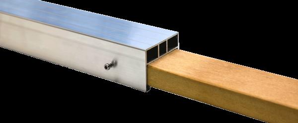 Hartholz Verbindungselement für 38 x 58 mm Alu Unterkonstruktion