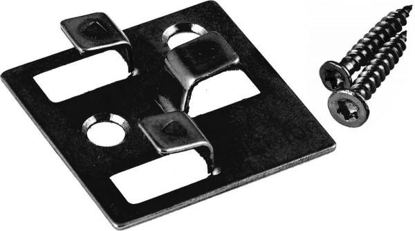 Edelstahl WPC Befestigungsclips schwarz, ausreichend für ca. 35 lfm bzw. 5 m², Schrauben inklusive, 100 Stück