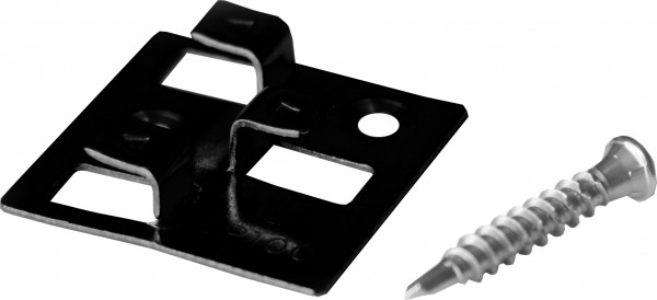 100 WPC Clips aus Edelstahl, schwarz, 4 mm Fugenbreite, inkl. selbstbohrenden Schrauben für die Befestigung von MEFO Dielen, empfohlen für ca. 35 lfm bzw. 5 m²