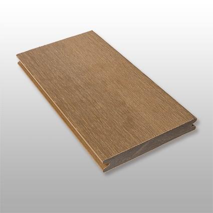 WPC Terrasse Terra, ummantelt, massiv, dunkelbraun, Oberfläche gebürstet, Premium, 22 x 143 bis 4800 mm, Vollprofil für 10,40 €/lfm