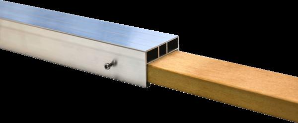 Hartholz Verbindungselement für 24 x 58 mm Alu Unterkonstruktion