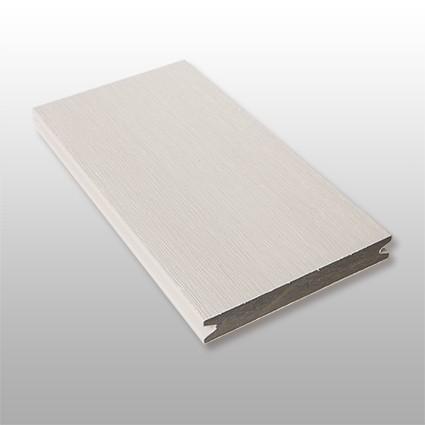 WPC Terrasse Artide massiv, hellgrau, Oberfläche gebürstet, ummantelt, Premium, 22 x 143 bis 4800 mm, Vollprofil, 10,40 €/lfm