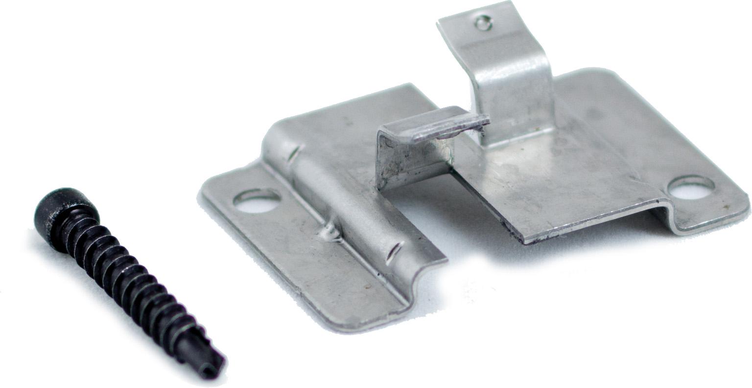 WPC Montagezubehör aus Edelstahl, Verpackung mit 100 Stück inkl. Schrauben, ausreichend für ca. 5 m² bzw. 35 lfm.