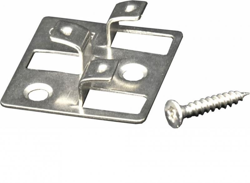 Edelstahl WPC Befestigungsclips, ausreichend für ca. 35 lfm bzw. 5 m², Schrauben inklusive, 100 Stück