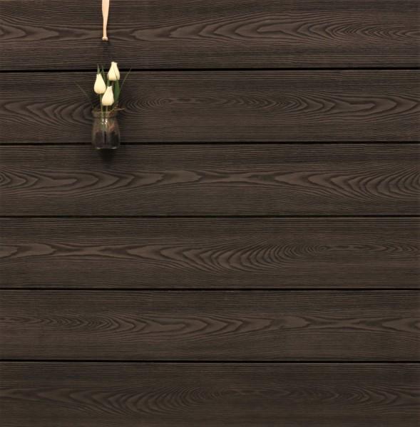 WPC Terrasse massiv, bicolor Thermoesche, Oberfläche mit Struktur in Holzoptik, 22 x 143 bis 4800 mm, Vollprofil, 9,90 €/lfm