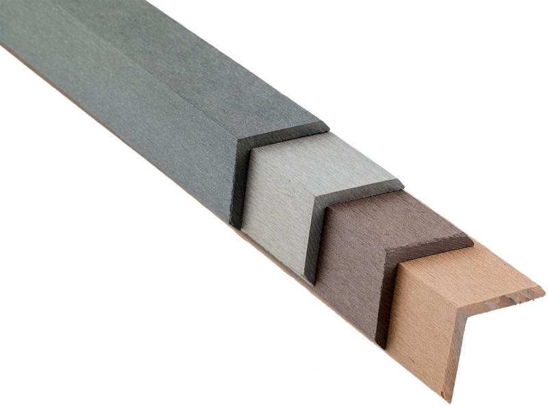 WPC Winkelleiste, 48 x 48 x 2900 mm, farblich passend zur Decklage