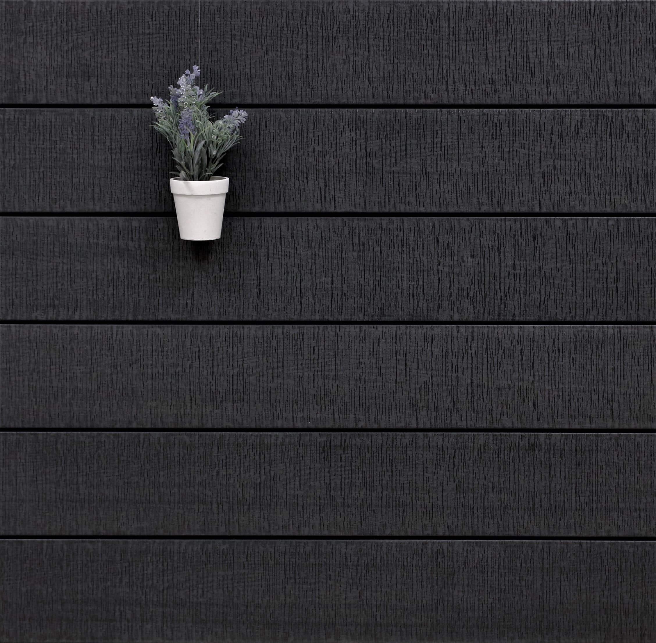 WPC Terrasse massiv, dunkelgrau, sägerau grob, 22 x 143 bis 4800 mm, Vollprofil, 9,20 €/lfm