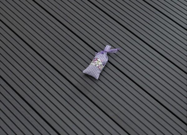 WPC Terrasse massiv, dunkelgrau, Oberfläche grob genutet, 22 x 143 bis 4800 mm, Vollprofil, 7,90 €/lfm